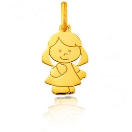 Colgante Oro amarillo Primera Ley 18 K niña