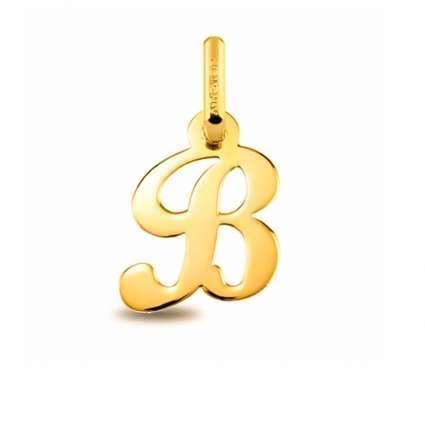 Colgante Inicial letra B Oro de Primera Ley 18 K