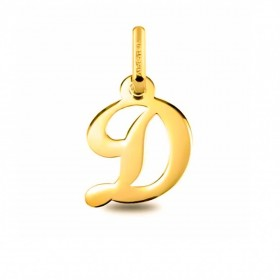 Colgante Inicial letra D Oro de Primera Ley 18 K