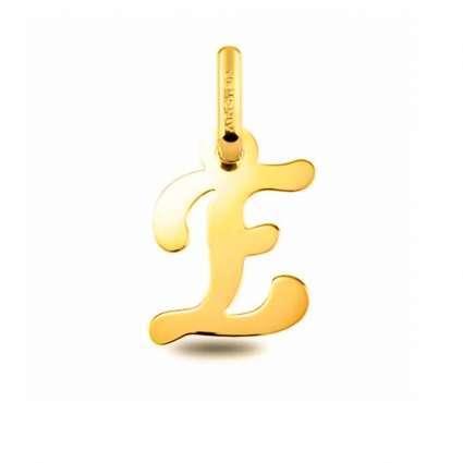 Colgante Inicial letra E Oro de Primera Ley 18 K