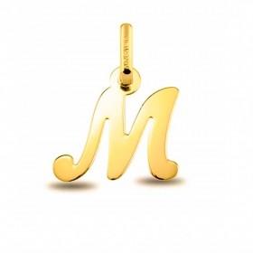 Colgante Inicial letra M Oro de Primera Ley 18 K