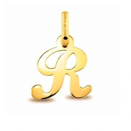 Colgante Inicial letra R Oro de Primera Ley 18 K
