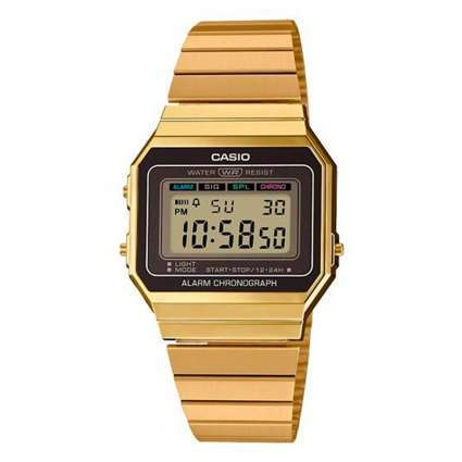 Reloj Casio Collection Dorado Digital A700WEG-9AEF Classic Edgy