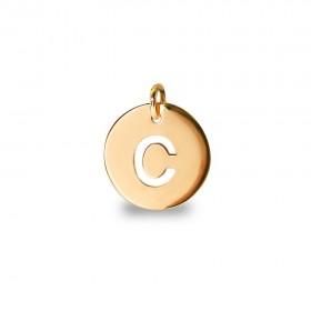 Inicial letra C Oro de Primera Ley 18 K