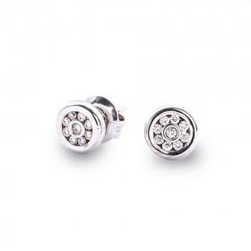 Pendientes  18 Diamantes en Granetes 0.22 Ct Hvs Oro Blanco 1ª Ley 18K