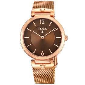 Reloj S-Mesh de acero IP rosado TOUS