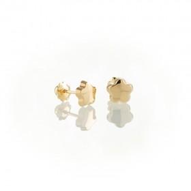 Pendiente niña flor Oro 18k